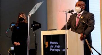 ?? DR ?? Intervenção do ministro Jomo Fortunato na cerimónia de reabertura do Museu da Língua Portuguesa