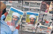 ?? AFP ?? A Pakistani man in Lahore reads a daily running the news of Osama bin Laden's death, on May 3, 2011.