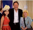 ??  ?? Inquirer's Tessa Prieto-Valdes, Autostrada Motore Chairman and President Wellington Soong and Kathy Moran