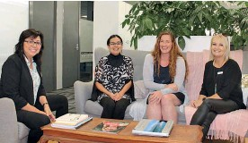 ??  ?? Providing career support for Northlanders, L-R Muriel Willem and Alejandra Castaneda – Career Focus NZ and Alysha Phillips with Lisa Halverson of Work Ready.