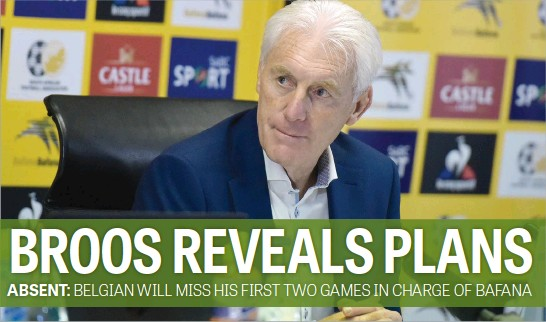?? Picture: Neil McCartney ?? HE HAS ARRIVED. New Bafana Bafana coach Hugo Broos during his first press conference at Safa House yesterday.