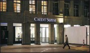 ?? ARND WIEGMANN / FILE PHOTO / REUTERS ?? Credit Suisse was among the companies that experienced heavy losses after Archegos Capital Management defaulted on margin calls.