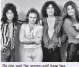 ??  ?? He also said the cancer ould have bee caused by 'living in a recording studio that's filled with electromagnetic energy. Pictured, left to right: Van Halen, Michael Anthony, Alex Van Halen and David Lee Roth of the band Van Halen in 1978
