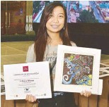 ??  ?? Rubber-Printing: Shelomae Zumarraga won the Grand Prize in the rubber-printing workshop.
