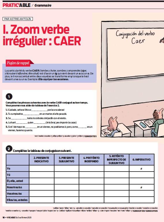 I Zoom Verbe Irregulier Caer Pressreader