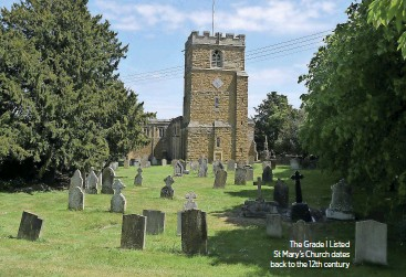??  ?? The Grade I Listed St Mary's Church dates back to the 12th century