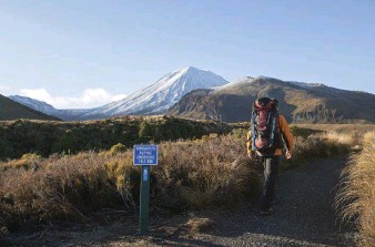??  ?? Above and top: Hike up to Tongariro Alpine Crossing, where lava flows, steam vents and emeraldcoloured lakes await. Don't forget to rug up!