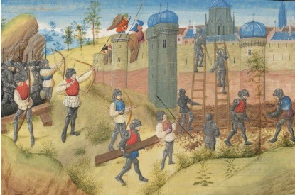 ??  ?? ABOVE The siege of Jerusalem 1099. Citizens were slaughtered after its capture
