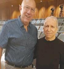 ?? (Steve Linde) ?? 'JERUSALEM POST' Managing Editor David Brinn (left) with Danny Sanderson.