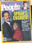 """??  ?? LOVE STORY After six years of dating, Winfrey and Graham announced they were going to tie the knot, """"and it was on the cover of People magazine"""", she says, laughing. """"A lot of damn pressure, that cover!"""" Inset: the Nov. 23, 1992, issue."""