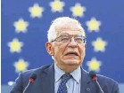??  ?? ▲ Josep Borrell said a lot of people in Afghanistan deserved EU protection