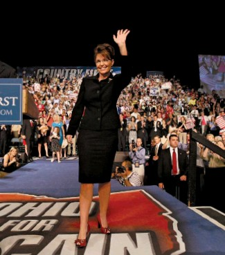 ??  ?? PAST AND PRESENT Senator John Mccain surprised observers by picking Sarah Palin (above) as his running mate in 2008. Former New Jersey Governor Christie Whitman (left) did not vote for Trump in 2016 or 2020. Below: Coney Barrett is sworn in.