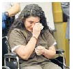 ?? JOE CAVARETTA/STAFF FILE PHOTO ?? Kayla Mendoza apologizes to the families of the two victims after pleading guilty to two counts of DUI manslaughter.
