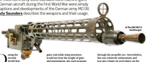 ??  ?? ■ The LMG 08/15 machine gun.