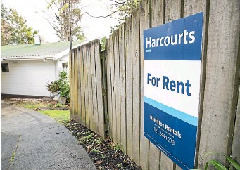 ?? CHRISTEL YARDLEY/STUFF ?? Rents were six per cent higher in March than a year ago, as supply failed to keep up with demand.