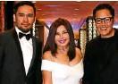 ??  ?? Archie Carrasco, Sari Yap, Suki Salvador