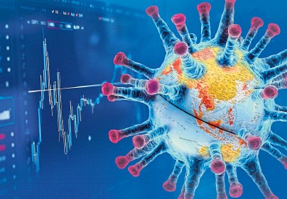 ??  ?? WORLD OF TROUBLE: The virus threatens the global economy as well as the health of the planet's population