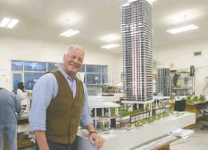 ?? MIKE BELL ?? Peter Webb of Concord Pacific says the Metropolis project is being redesigned.