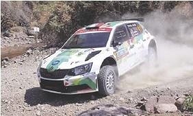 ??  ?? Benito Guerra compite en el WRC2. Foto: Gerardo Guerra