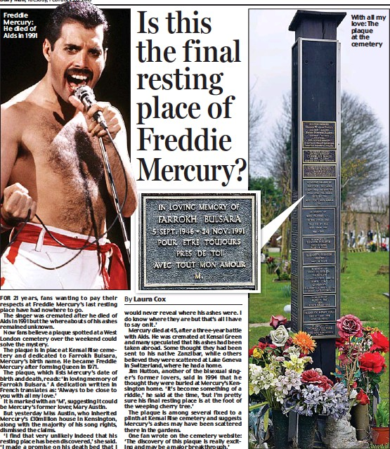 Is This The F Inal Resting Place Of Freddie Mercury Pressreader