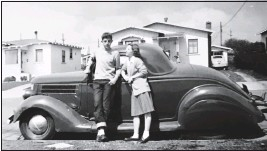 ?? CONTRIBUTED PHOTOS ?? Al Bascou, (left) who was born in 1926, in Oakland, attended Oakland Tech and then transferred to Berkeley High. He had a passion for cars from an early age, owning an estimated 40-50 during his long life.