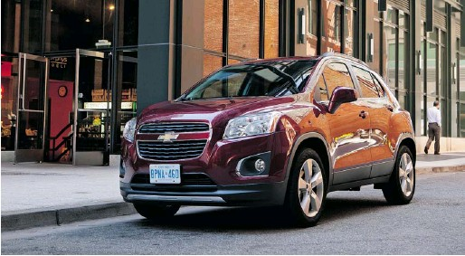 ?? GENERAL MOTORS ?? The 2013 Chevrolet Trax is essentially a longer, wider, taller version of the subcompact Sonic with the same 138-hp turbocharged four-cylinder engine..