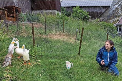 ?? Foto: Christian Pfander ?? Diana Lindner hat derzeit alle Hände voll zu tun – die Anfragen nach dieser effizienten und grünen Lösung gegen die Schneckenplage reissen nicht ab.