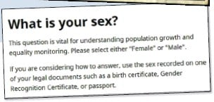 ??  ?? CONTROVERSIAL: This year's Census says you can use the sex on your Gender Recognition Certificate or passport when answering what is your sex