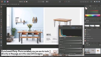 ??  ?? If you have Affinity Photo installed, you can use its tools directly on the page; as is the case with Designer.