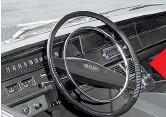 ??  ?? Салон ЗИЛ-114, как и весь кузов, сделали строгим и лаконичным. Дизайн с тонким рулевым колесом и вытянутым спидометром типичен для середины 1960-х.