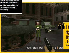 ??  ?? [N64] While at MGM, Jane worked on prolific Bond games, such as Goldeneye.