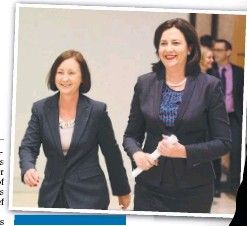 ??  ?? POWER PLAY: Catherine Holmes and (above) Annastacia Palaszczuk and Yvette D'Ath.