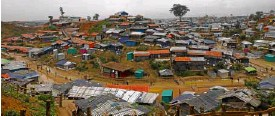 ?? —AP ?? FAST GROWING Aview of the Kutupalong refugee camp that UNSecretary General Antonio Guterres visited Monday in Cox's Bazar, Bangladesh.