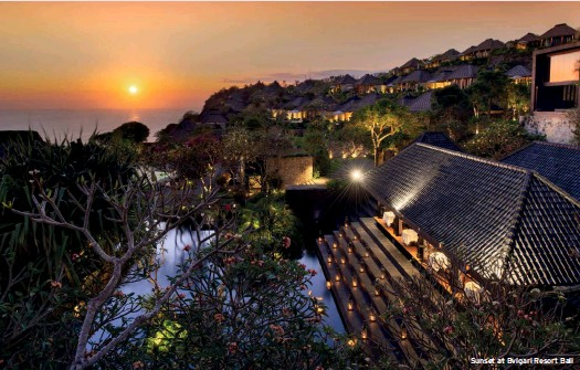 ??  ?? Sunset at Bvlgari Resort Bali