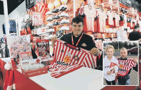 SAFC Shop sales assistant Samuel Harrison with the Bradley Lowery shirt.  Inset 171a8a946c