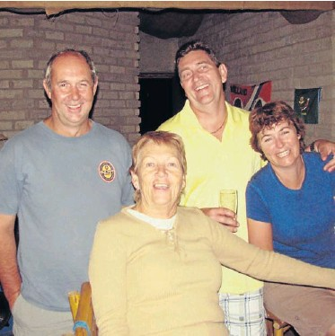 ?? Picture: SUPPLIED ?? GONE BUT NOT FORGOTTEN: Anne Roebert, front, in happier times with her two sons Brandon and Mark, and daughter Laree. Roebert's body was found in the bedroom of her Kei Mouth home by her close friend on Thursday morning