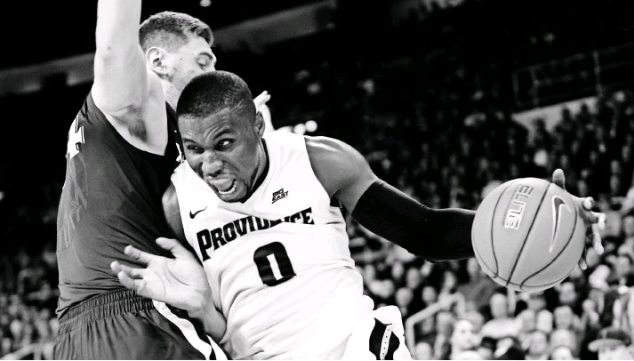?? MARK L. BAER, USA TODAY SPORTS ?? Sophomore forward Ben Bentil, right, is averaging team highs of 20.3 points and 8.1 rebounds per game for Providence. He is shooting 47.9% from the field.