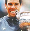 ?? VINCENT KESSLER/REUTERS ?? Rafael Nadal earned his 18th major title and is two behind Roger Federer's men's record.