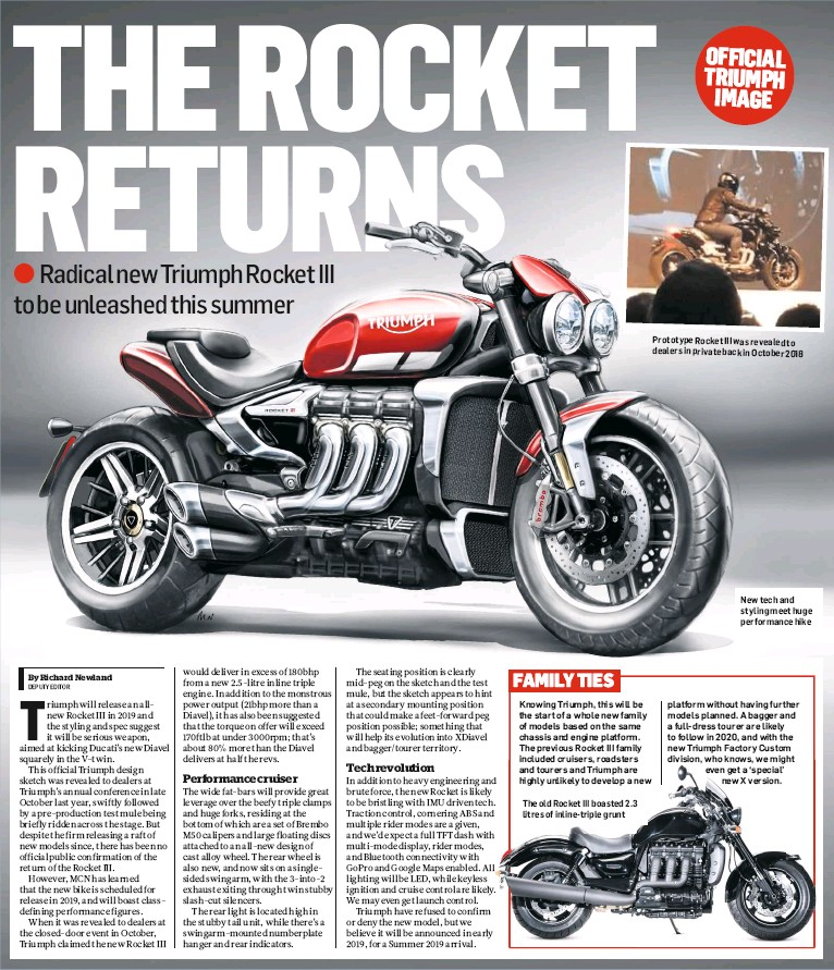 Pressreader Motorcycle News Uk 2019 01 02 Triumph Rocket Iii