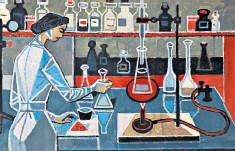 ??  ?? Detail from Chemist by Clifford Hooper Rowe (1904-89), an active British Communist