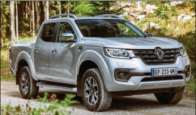 ??  ?? Renault ajoute un pick-up à sa gamme, grâce à Nissan, en se contentant d'une face avant spécifique plus proéminente et d'un hayon de benne redessiné....