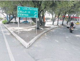 ??  ?? Las calles de Los Caobos dan forma a un reparto triangular del territorio.