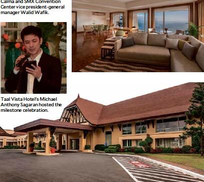 ??  ?? Taal Vista Hotel's Michael Anthony Sagaran hosted the milestone celebration.