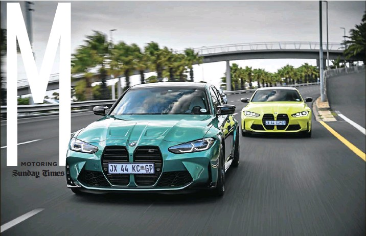 ?? Pictures: Supplied ?? The new G80 M3 sedan, above, and G82 M4 Competition coupé, below, are laden with every technology and amenity a discerning performance-car buyer wants in 2021.
