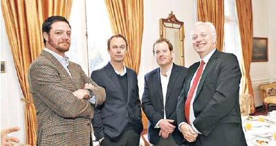 ??  ?? * Richard Haensel, Arnaldo Brethaver, Andrés Meirovich y David Gardner.