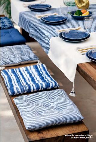 ??  ?? Vaisselle, coussins et linge de table H&M, hm.ca