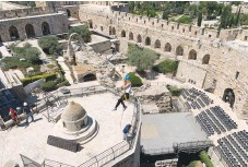 ??  ?? THE NEW rope-climbing attraction at the Tower of David Museum in Jerusalem's Old City. (Lauren Morganbesser)