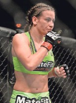 ?? JAYNE KAMIN-ONCEA, USA TODAY SPORTS ?? Tate has won four consecutive bouts to improve her UFC record to 17-5.
