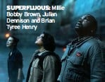 ??  ?? SUPERFLUOUS: Millie Bobby Brown, Julian Dennison and Brian Tyree Henry