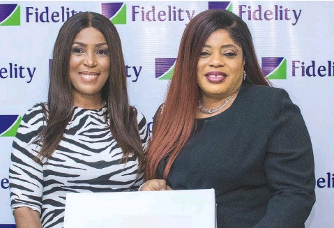??  ?? Managing Director/ CEO, Fidelity Bank Plc, Mrs. Nneka Onyeali- Ikpe ( right) and CEO Linda Ikeji TV, Ms. Linda Ikeji, when the entrepreneur paid a courtesy visit on the bank, in Lagos.
